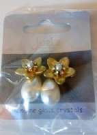 Juelz pearl effect drop earrings (Code 2976)